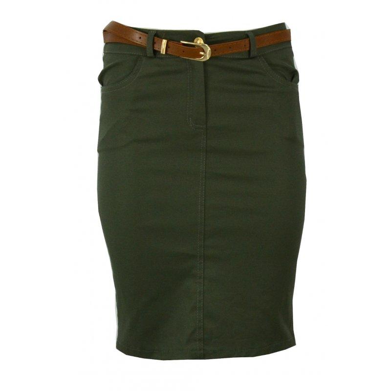 Sportowa spódnica z kieszeniami (khaki)