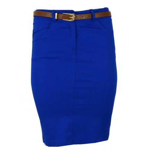Sportowa spódnica z kieszeniami (niebieska)