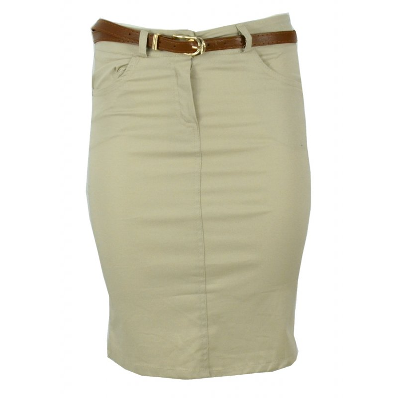 Sportowa spódnica z kieszeniami (beżowa)
