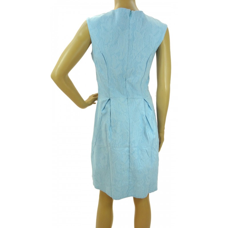Sukienka z zamkami (błękitna)