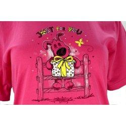 Koszula nocna z nadrukowanym pieskiem (różowa)