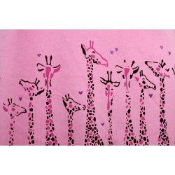 Koszula nocna z żyrafkami (jasnorożowa)