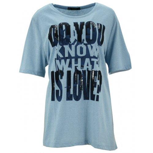 Bluzka oversize melanż (błękit)
