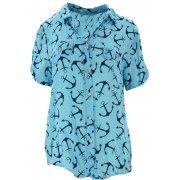 Luźna bluzka w kotwice (jasno niebieska)