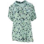 Luźna bluzka w kotwice (miętowa)