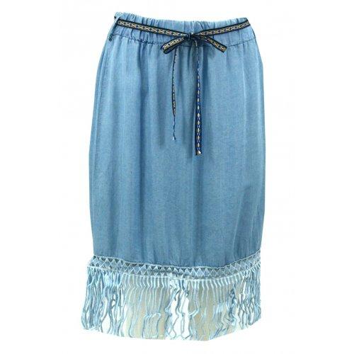 Spódnica jeansowa w stylu boho