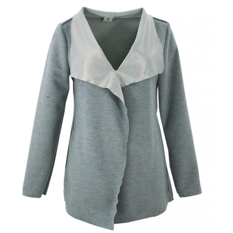 Sweter/ żakiet z flauszu (szary)