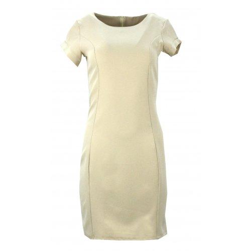 Ołówkowa sukienka (beżowa)