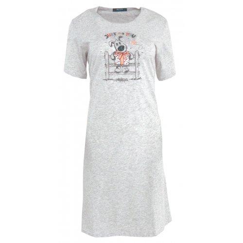 Koszula nocna z nadrukowanym pieskiem (szara)