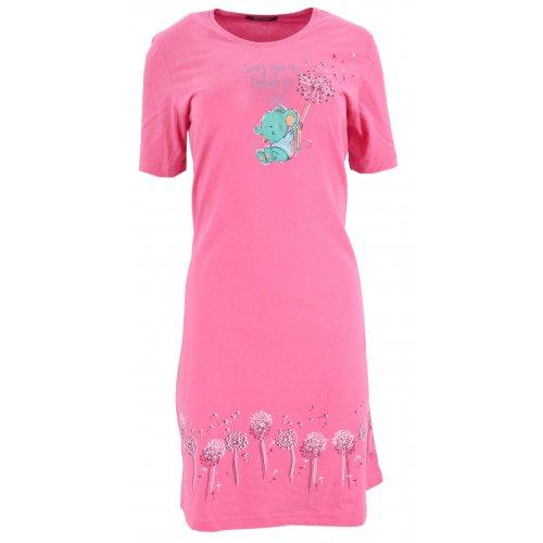 Koszule nocne damskie z dmuchawcami (różowa)