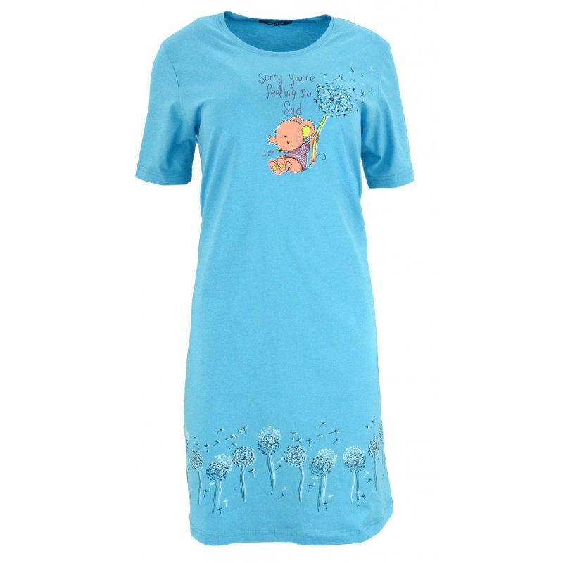 Koszula nocna z dmuchawcami Koszula Nocna Niebieska Kobieca Koszula Nocna