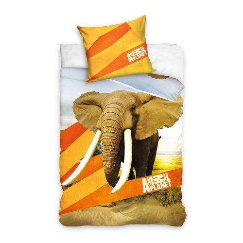 Pościel z motywem zwierząt licencyjna 160x200 Słoń ANIMAL PLANET AP7003