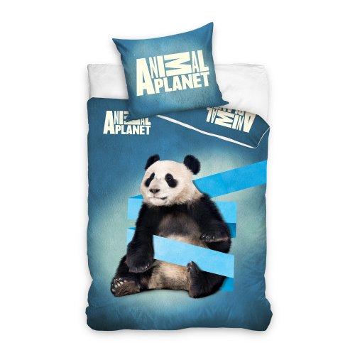 Pościel ze zwierzętami licencyjna 140x200 Panda ANIMAL PLANET AP5003-PP z motywem zwierząt