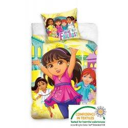 Pościel licencyjna dla dzieci 140x200 Dora i przyjaciele DOR162020-P pościel dziecięca