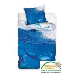 Pościel młodzieżowa 160x200 Delfin Ocean Ryby Rybki NL161001
