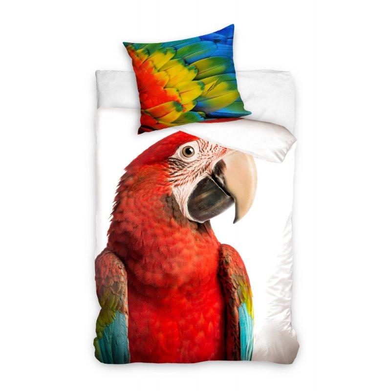 Pościel młodzieżowa 160x200 Papuga Pióra NL163001 Pościel ze zwierzętami