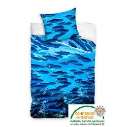 Pościel młodzieżowa 160x200 Ryby Ocean NL163005 Pościel z motywem zwierzęcym