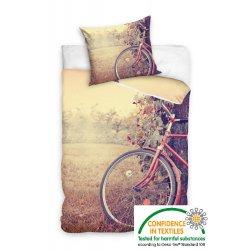 Pościel młodzieżowa 160x200 Rower NL163006 Pościel z motywem roweru
