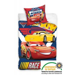 Pościel licencyjna dla dzieci 140x200 Auta Zygzak McQueen CARS3171001-P Pościel na prezent dla chłopca