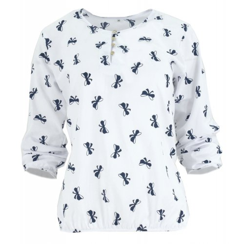 Elegancka bluzka damska w kokardki (biała)