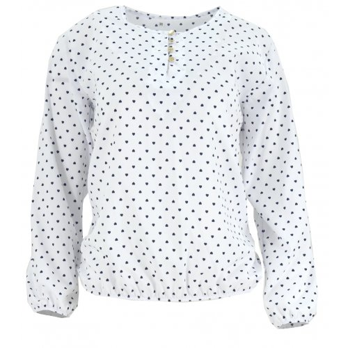 Biała bluzka damska w serca