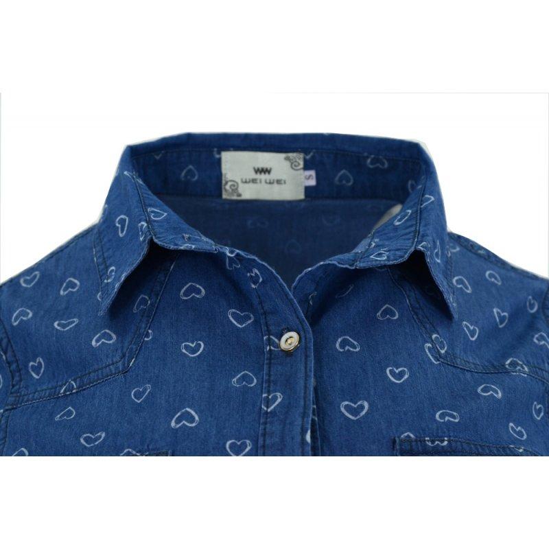 Jeansowa koszula damska (kolor1)