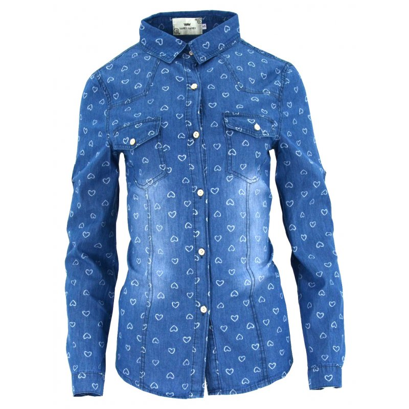 abb4fdbb Jeansowa koszula damska (kolor2) | eStilex.pl | Modna i tania odzież damska  online, pościel 3D, narzuty