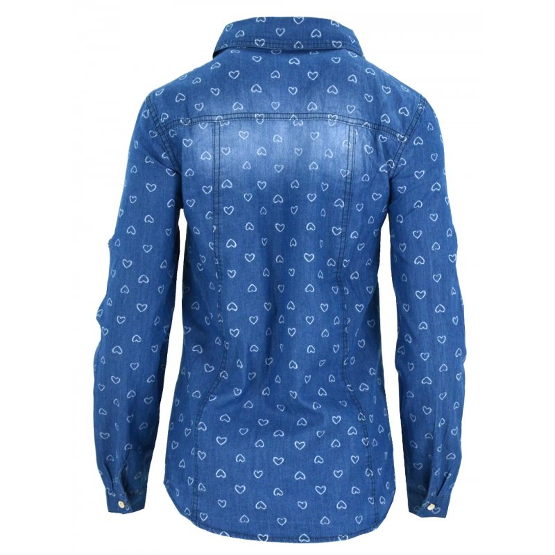 Jeansowa koszula damska (kolor2)