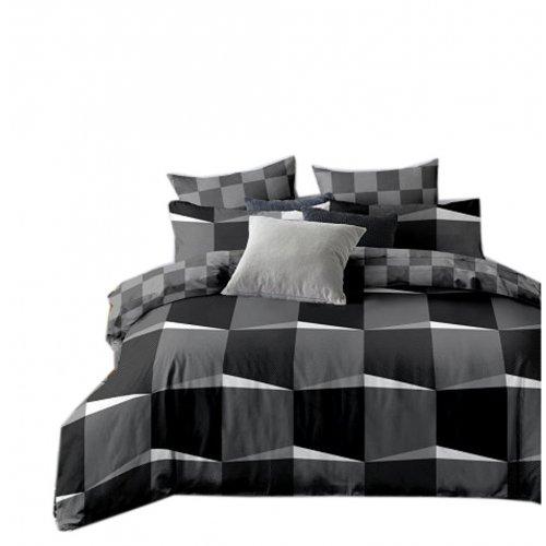 Pościel biało czarno szara 3D 160X200 WZ. 7