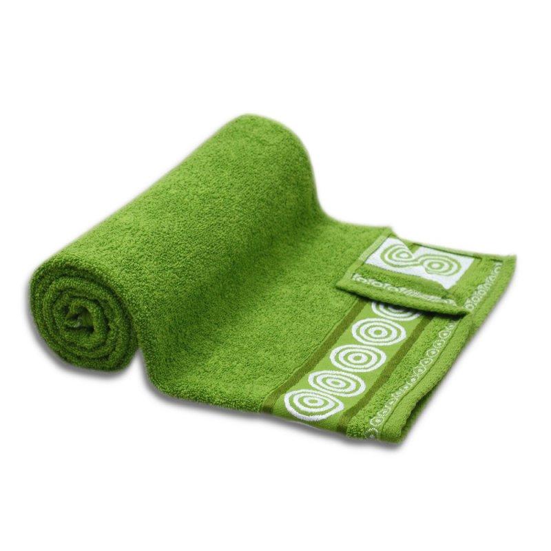 Ręcznik kąpielowy DUŻY 70x140 GROSZKOWY łazienkowy frotte