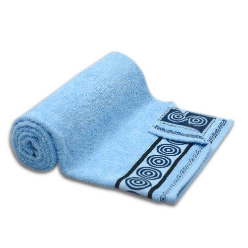 Ręcznik kąpielowy mały 50x90 BŁĘKITNY łazienkowy frotte
