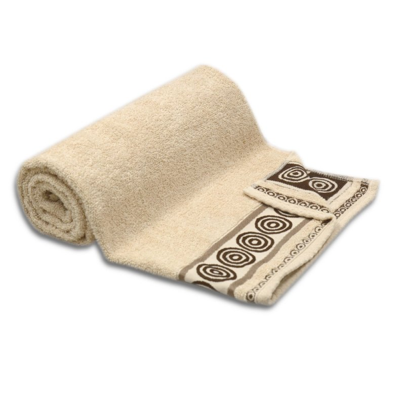 Ręcznik kąpielowy DUŻY 70x140 BEŻOWY łazienkowy frotte