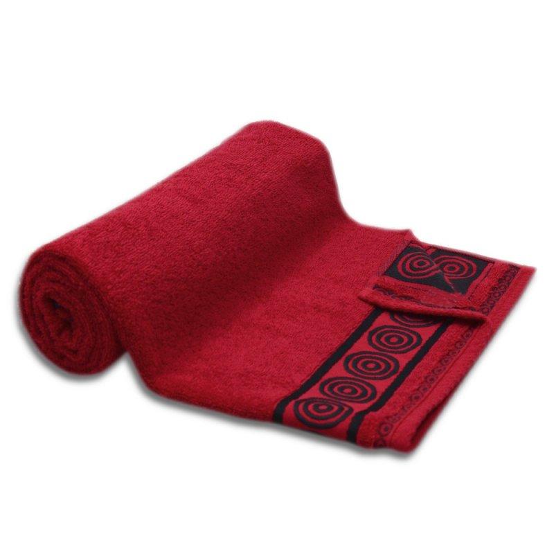 Ręcznik kąpielowy MAŁY 50x90 CZERWONY łazienkowy frotte