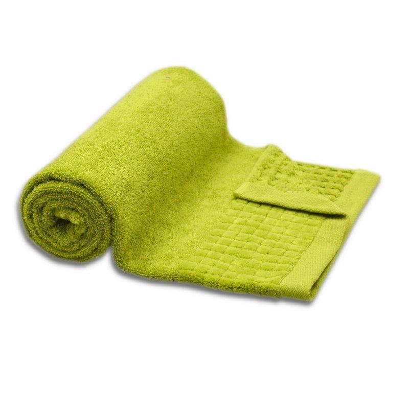 Ręcznik bawełniany DUŻY 70x140 LIMONKOWY kąpielowy łazienkowy frotte