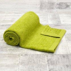 Ręcznik bawełniany MAŁY 50x90 LIMONKOWY kąpielowy łazienkowy frotte