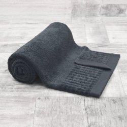 Ręcznik bawełniany DUŻY 70x140 GRAFITOWY kąpielowy łazienkowy frotte
