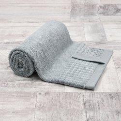 Ręcznik bawełniany DUŻY 70x140 JASNY GRAFIT łazienkowy kąpielowy frotte