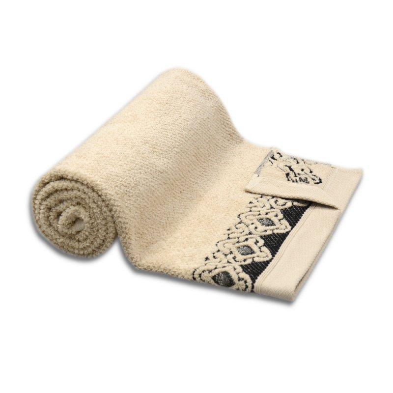 Ręcznik łazienkowy MAŁY 50x90 BEŻOWY kąpielowy bawełniany frotte