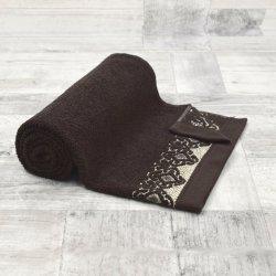 Ręcznik łazienkowy MAŁY 50x90 BRĄZOWY kąpielowy bawełniany frotte
