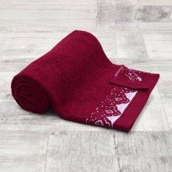 Ręcznik łazienkowy MAŁY 50x90 BURGUND kąpielowy bawełniany frotte