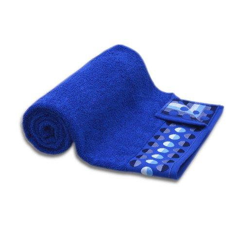 Ręcznik frotte DUŻY 70x140 CHABROWY kąpielowy łazienkowy bawełniany