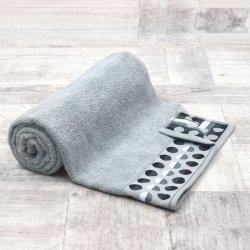 Ręcznik frotte DUŻY 70x140 GRAFIT łazienkowy kąpielowy bawełniany