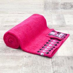 Ręcznik frotte DUŻY 70x140 FUKSJA łazienkowy kąpielowy bawełniany