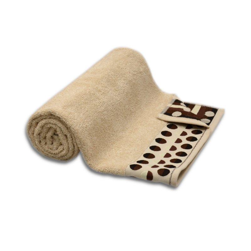 Sklep z ręcznikami Ręcznik frotte DUŻY 70x140 BEŻOWY kąpielowy łazienkowy bawełniany