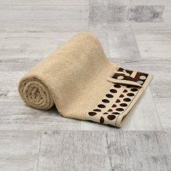 Ręcznik frotte DUŻY 70x140 BEŻOWY kąpielowy łazienkowy bawełniany