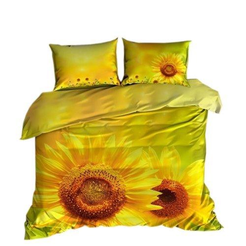 Pościel 3D 200x220 100 % BAWEŁNA POLSKI PRODUCENT WZ. 038 Słoneczniki Kwiaty Kwiatki