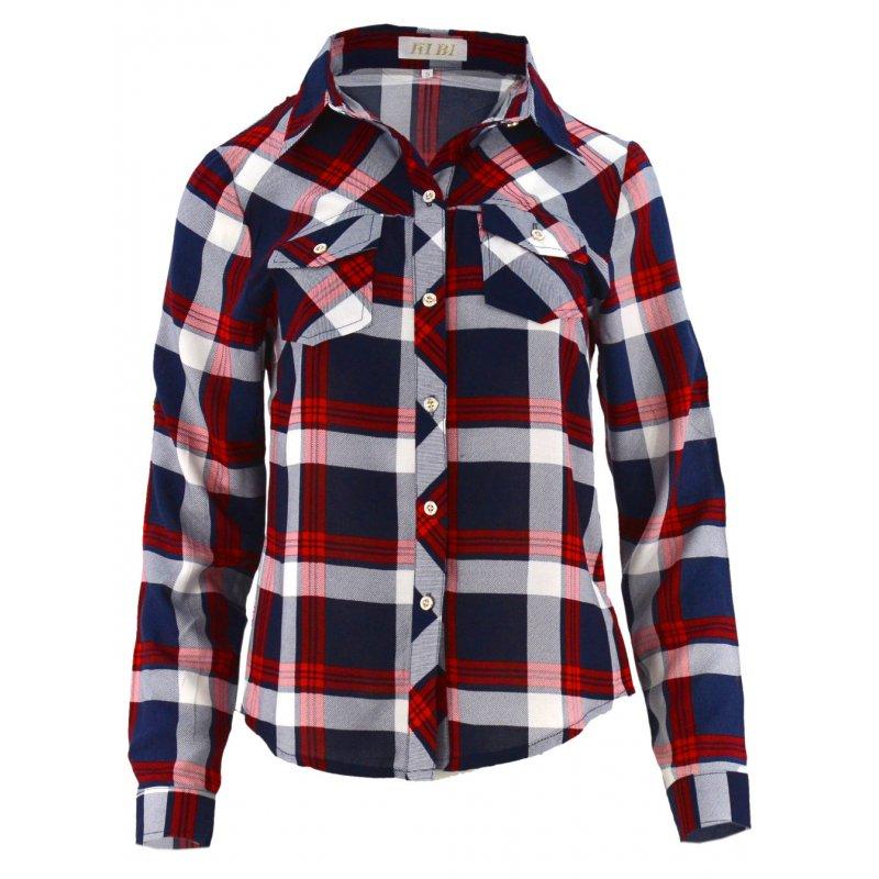 W superbly Bluzka koszulowa w kratkę z kolnierzykiem | eStilex.pl | Modna i YD58