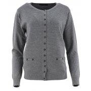 Klasyczny rozpinany sweter D. ROZMIAR (c.szary)
