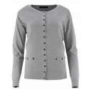 Klasyczny rozpinany sweter D. ROZMIAR (j.szary)
