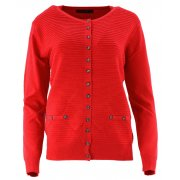 Klasyczny rozpinany sweter D. ROZMIAR (czerwony)
